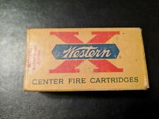 Vintage Western X Center Fire Cartridges Empty Ammo Box 32 Smith and Wesson Long
