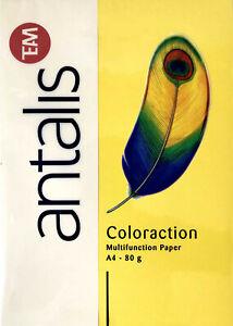 farbiges Kopierpapier 80 Blätter Druckerpapier Antalis SONNENGELB  A4 80g/m²
