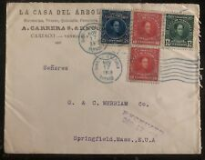 1918 Cariaco Venezuela Commercial cover To Springfield Ma USA