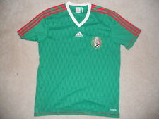 Mexico National Team Soccer Futbol Jersey Addias ClimaLite Green Large Eli Tri
