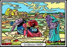 Tableau à colorier en velours - Les Glaneuses de Millet - Neuf