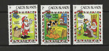 Walt Disney Caicos Islands 3 timbres neufs Christmas 1983 /T3458
