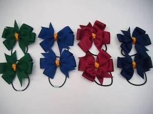 GIRLS WINTER SCHOOL HAIR BOBBLES/bows/clips