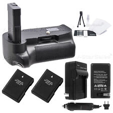 Battery Grip for Nikon D3200/D3300 + 2x EN-EL14 Batt + AC/DC Charger Kit