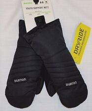Burton Youth's Black Support Mittens Snowboard Ski Snow Winter Mittens (104221)