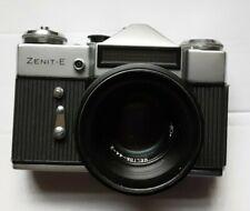 Zenit E 35mm SLR Film Camera ca 1976 with original carry case