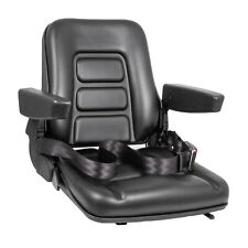 New Black Seat For Excavator,Forklift,Skid Loader,Backhoe,Dozer,Telehandler