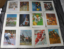 "VINTAGE 1962 PRUDENTIAL COLLECTION ""GREAT MOMENTS IN CANADIAN SPORT SET 12 of 14"