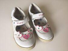 Stups Mädchen Schuhe Weiß mit Blümchen Gr 31 in OVP
