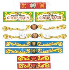 FISHER-PRICE CIRCUS TRAIN 991 REPLACEMENT LITHOS 1st Ed. Little People Stickers