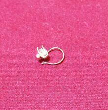 Diamond  Nose Ring (spiral) in 18k Yellow Gold