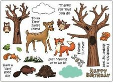 CREATIVE EXPRESSIONS U Mount Stamps WOODLAND CREATURES Deer Owl Fox Squirrel