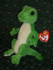 Ty GUS the Gecko Beanie Baby * Original BLACK EYES * MINT/MINT TAGS * RARE