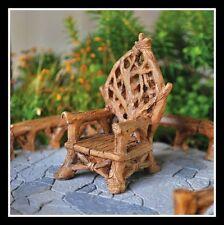 Dollhouse Miniature Fairy Garden Tiny Fairy Throne 16580