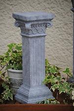 Säule Antik Stein Grau  Blumensäule Steingrau Garten Deko Shabby Stil Nr 2