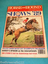 HORSE and HOUND - SHOWS '89 - MARCH 9 1989