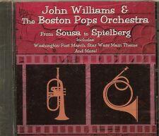 JOHN WILLIAMS  & THE BOSTON POPS ORCHESTRA - FROM SOUSA TO SPIELBERG - CD - NEW