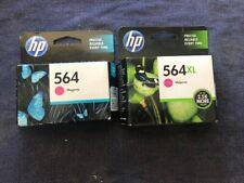2 x GENUINE HP Photosmart 564 & 564XL Ink Cartridges - Magenta
