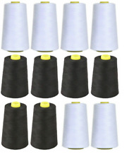 Overlocking Thread Polyester Industrial Sewing Machine - 5000 Yard x 4 Cones