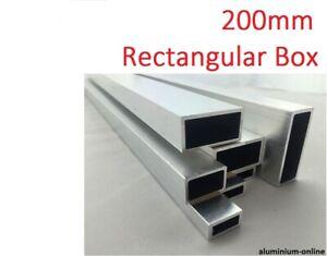 ALUMINIUM RECTANGULAR BOX SECTION 200mm, lengths 100mm - 2500mm/2.5m