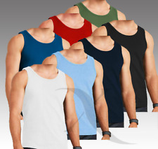 Mens Plain New 1 & 3 Pack Athletic Vests Tank Top Gym Training T Shirt BNWT