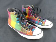Converse All Star Chuck Taylor Hi Woolrich Rainbow Plaid Sneaker Men 9 Women 11