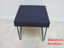 Vintage Mid Century Hairpin Leg Foot Stool Ottoman Seat