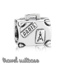 Pandora Genuine ALE 925 Silver Suitcase Travel Charm 790362 retired