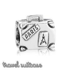 Pandora Genuine ALE 925 Silver Suitcase Travel Charm 790362 retired