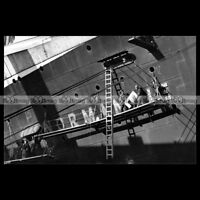 #php.01250 Photo SS NORMANDIE CGT LINE 1942 NEW YORK PAQUEBOT OCEAN LINER