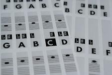 Piano Klavier Keyboard Musik Note Aufkleber Stickers (alle typen) C-D-E-F-G-A-B