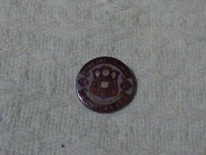 Vintage Home & Colonial College School Silver & Enamel Pin Badge 1924