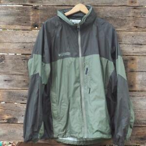 Columbia Windbreaker Water Resistant Raincoat Jacket Men Large