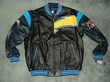 Chargers real Leather jacket 2xl by G-III new with tags irregular(flaws)