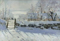 Claude Monet The Magpie Giclee Canvas Print Paintings Poster Reproduction