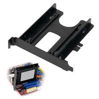 HK- PCI Slot 2.5inch HDD SSD Rear Panel Mount Bracket Hard Drive Adapter Tray Ne