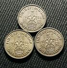 Lot/Set Of (3)- great britain ( 1937-1938-1939 )1 Shilling World Silver Coins