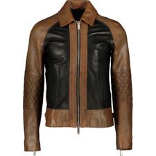 DSQUARED2 Leather Jacket - Brown & Black - UK 38/IT 48