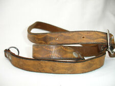 vintage LEATHER CAMERA NECK STRAP , with lugs , Belt style , Brown