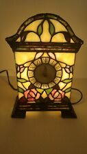 Pre - Owned Lighted Stained Glass Style Mantle Clock