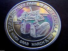 1987 THE OLD LADY WHO LIVED IN A SHOE Plain Aluminum Mardi Gras Doubloon
