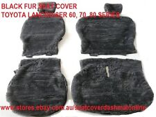 BLACK  FUR SEAT COVER (SHEEPSKIN LOOK SEAT COVER) TOYOTA LANDCRUISER 60,70,80