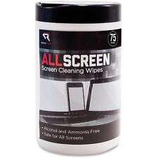 "Read Right AllScreen Screen Cleaning Wipes 6"" x 6"" White 75/Tub RR15045"