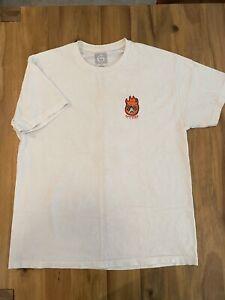 Spitfire Wheels x NECK FACE Logo T-Shirt White Size XL Skateboarding Graffiti