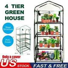 4 Tiers Greenhouse Garden Shed Cover Plant Green House Storage Plant Portable