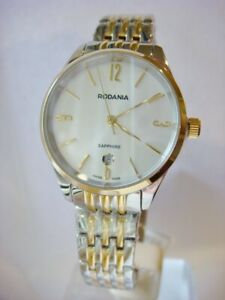 Brand New RODANIA Ladies Swiss Zermatt Gold Steel Bracelet Watch 2514280