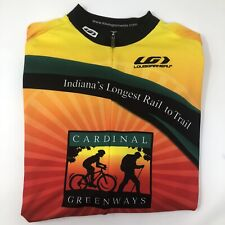 Louis Garneau Half Zip Men's L Cycling Shirt Indiana Cardinal Greenway Biking