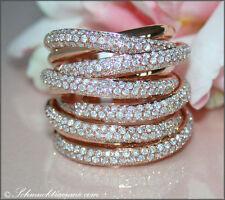Sehr gute echte Diamanten-Ringe aus Rotgold