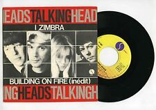 45 RPM SP TALKING HEAD I ZIMBRA / BUILDING ON FIRE