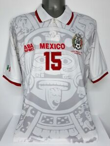 ABA SPORT MEXICO AWAY WC1998 HERNANDEZ XL PLAYER AWAY ORIGINAL JERSEY
